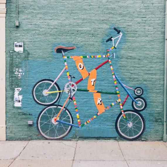 OTR Bike mural