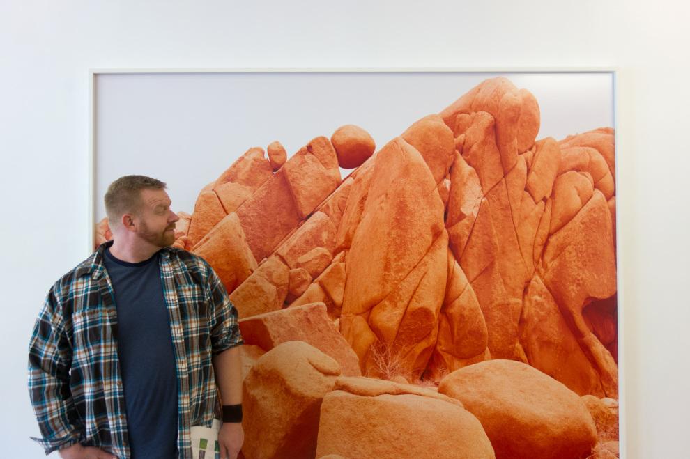 Dan and a David Benjamin Sherry print