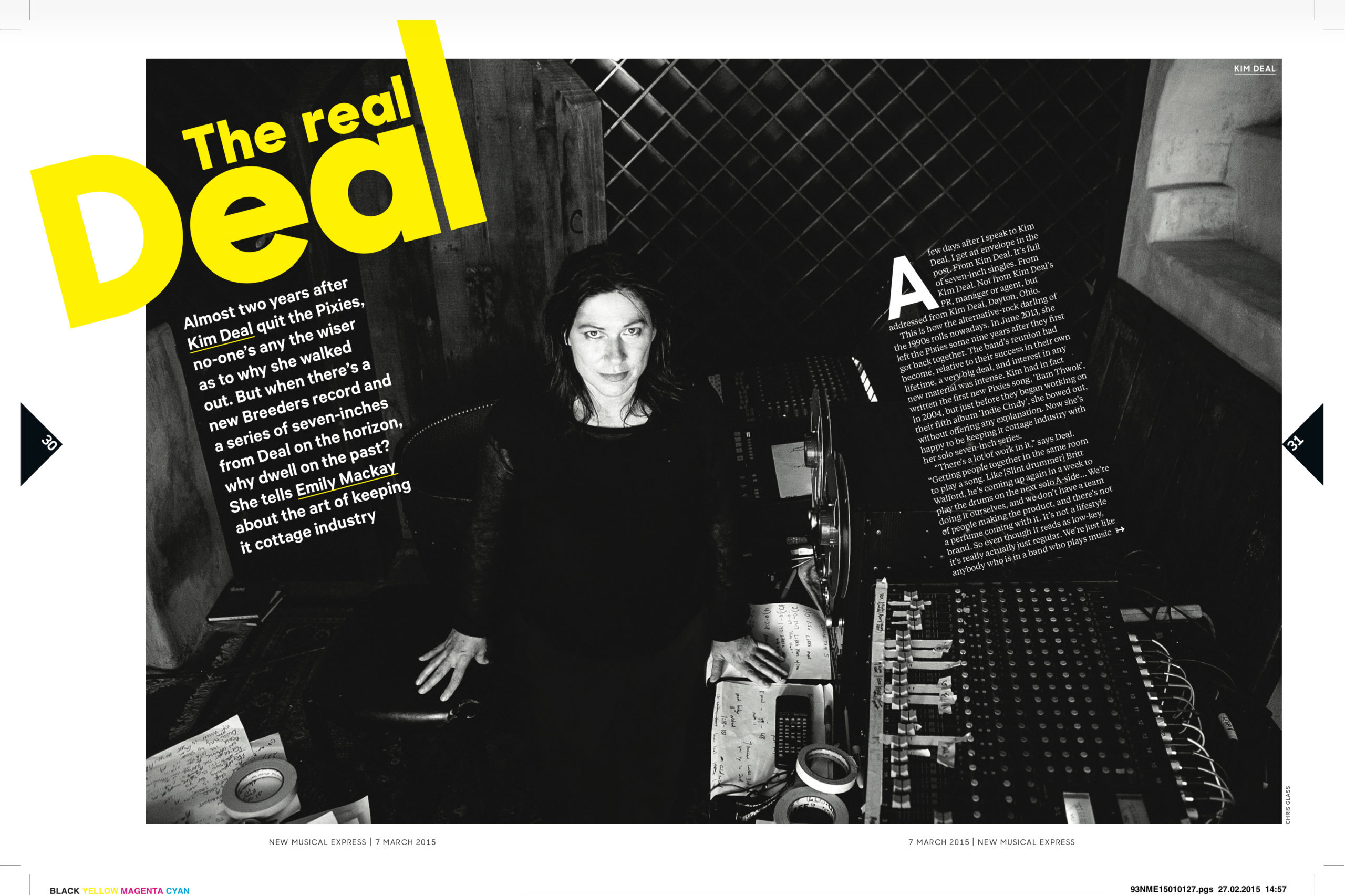 Spread from NME magazine