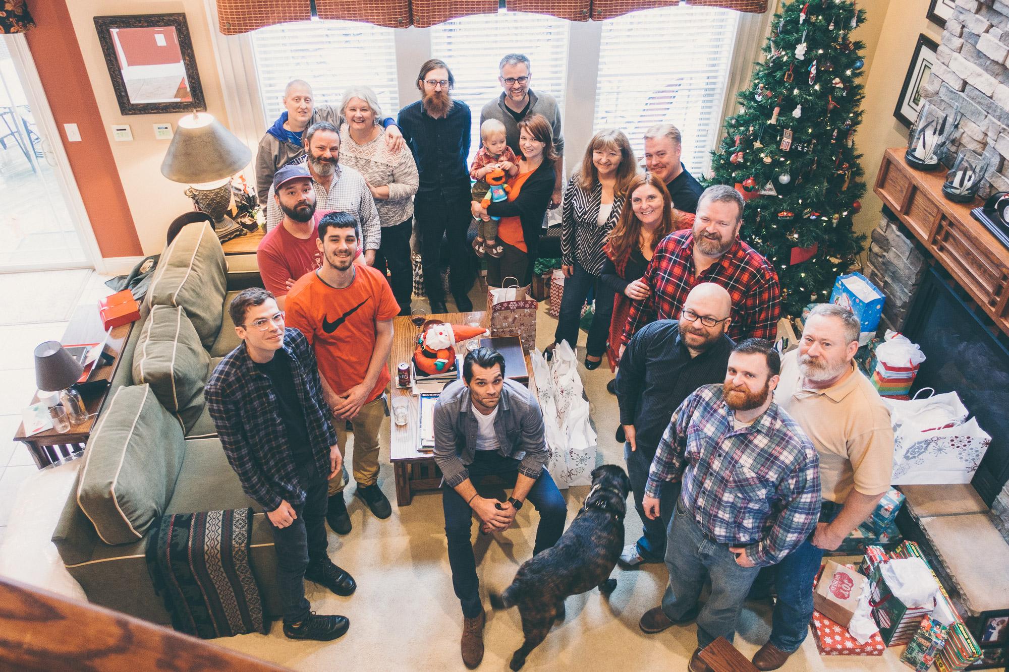 large family Christmas photo