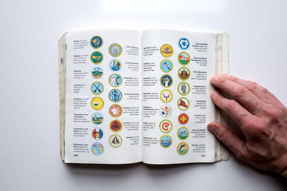 Boy Scout Handbook badges