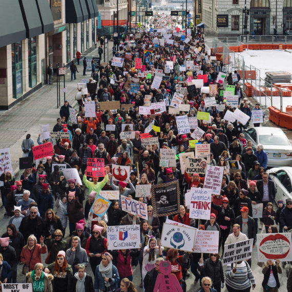 The 2018 women's march in Cincinnati