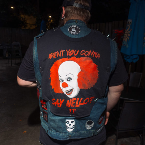 Man with Clown design on jacket