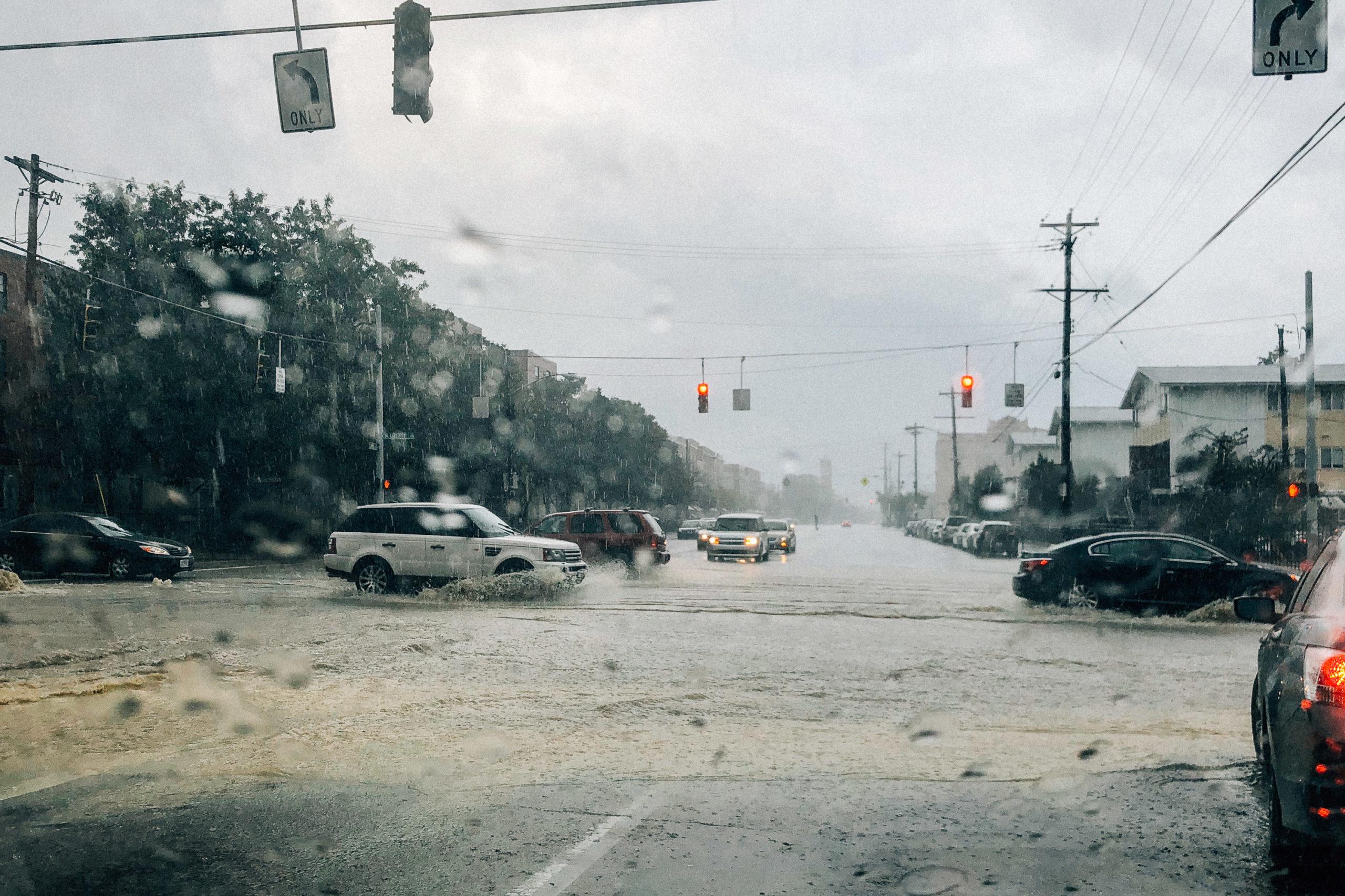 flooding streets in Cincinnati