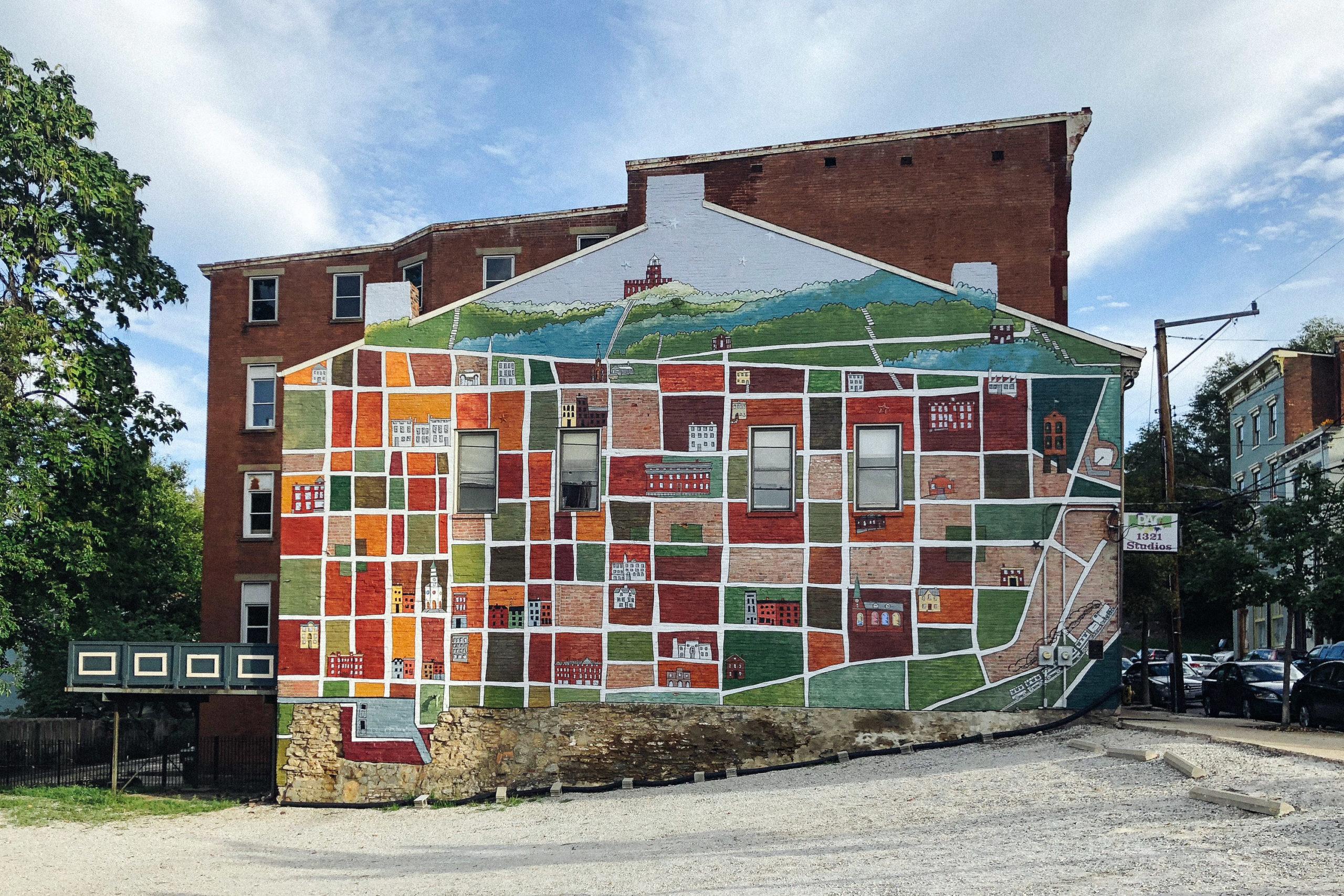 neighborhood mural in Pendleton