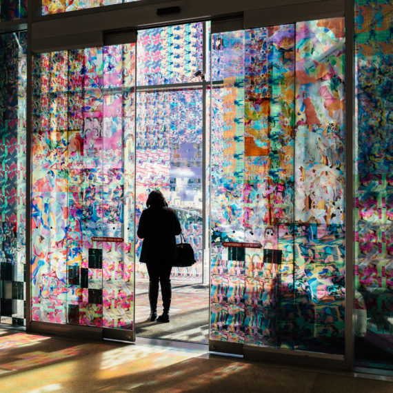 Lindsey Whittle's colorful light filled entry to the Contemporary Arts Center in Cincinnati