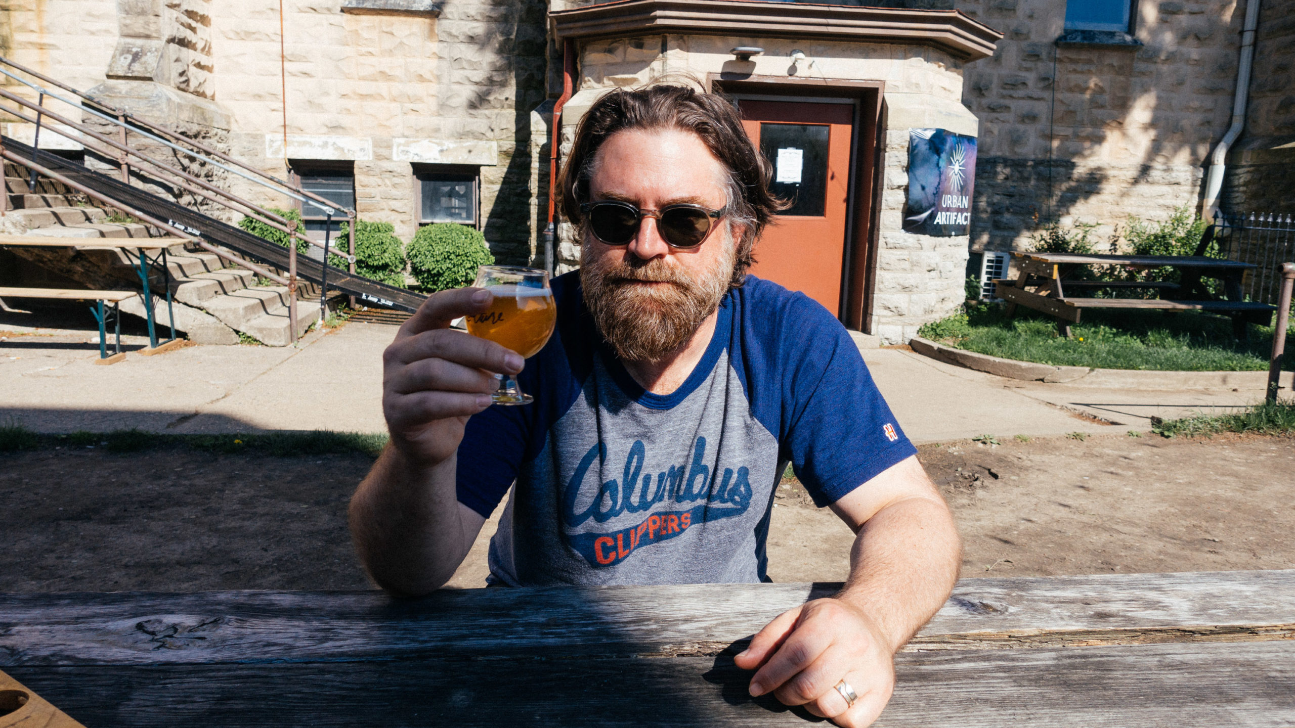 bearded man with beer