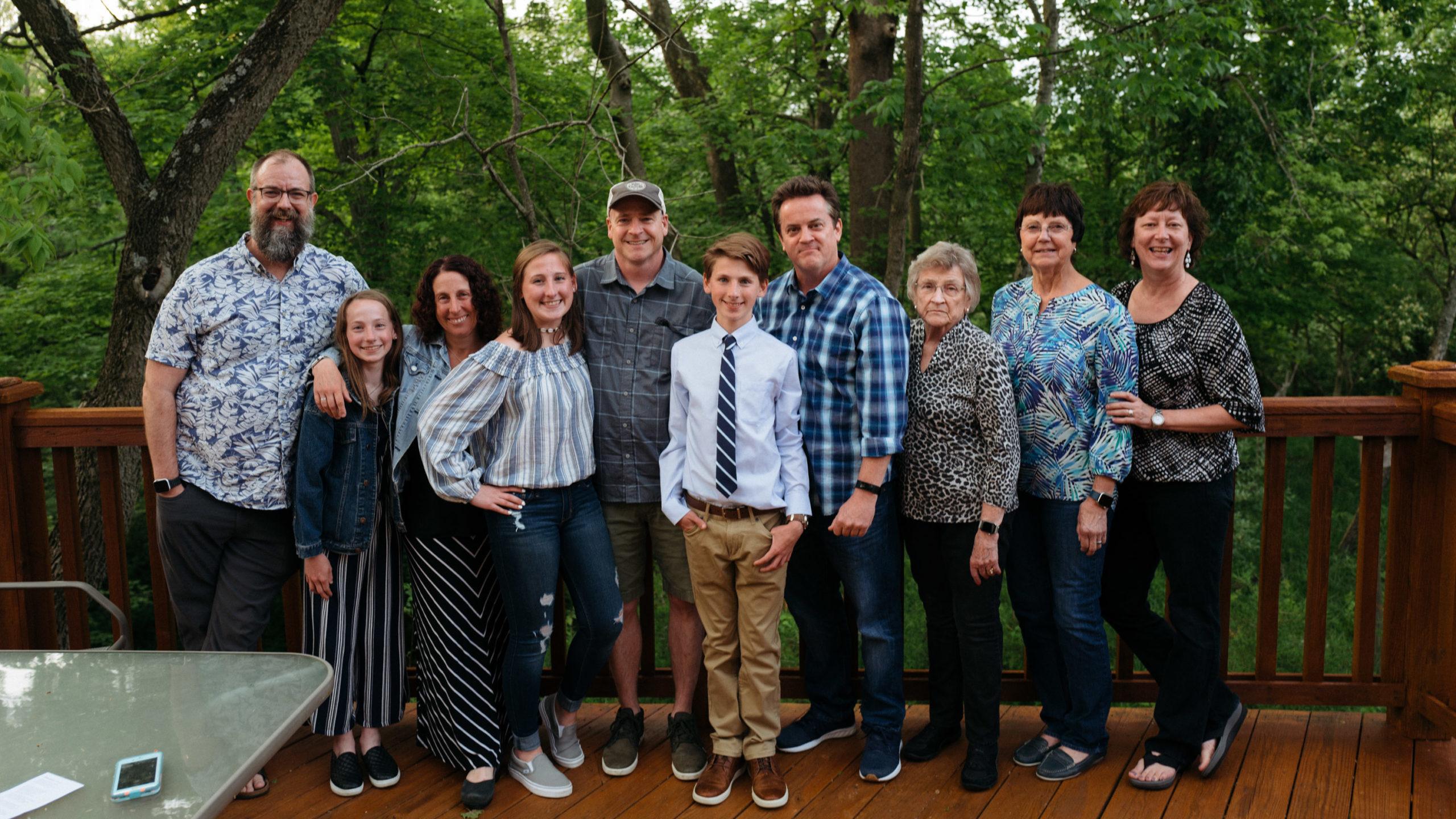 A family portrait at a graduation