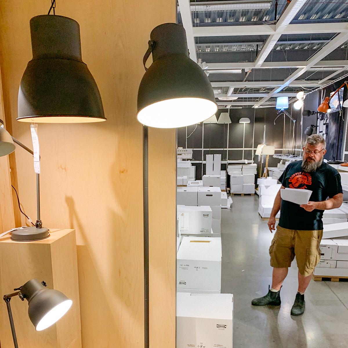 A man in IKEA