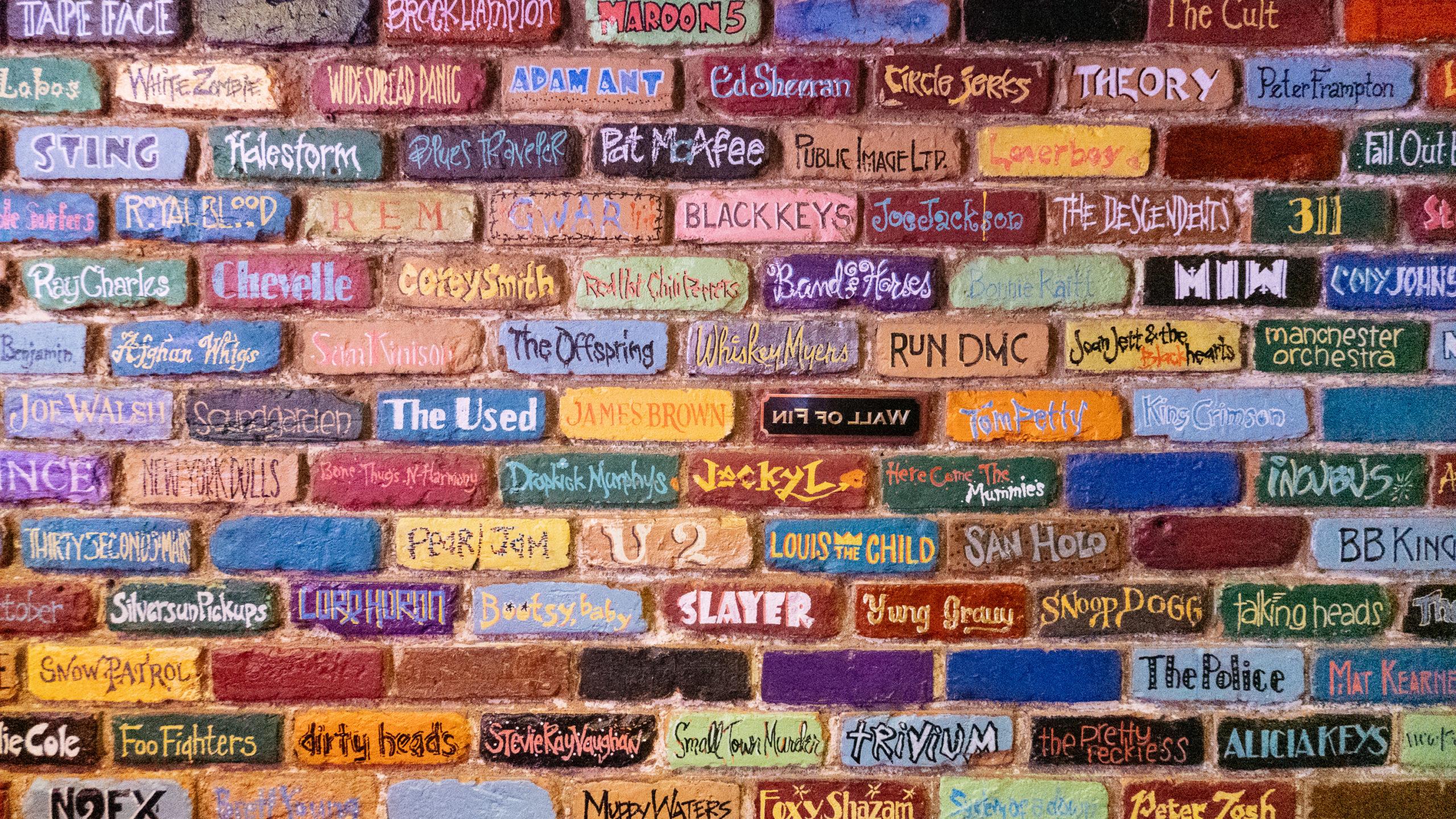 The brick wall at Bogarts