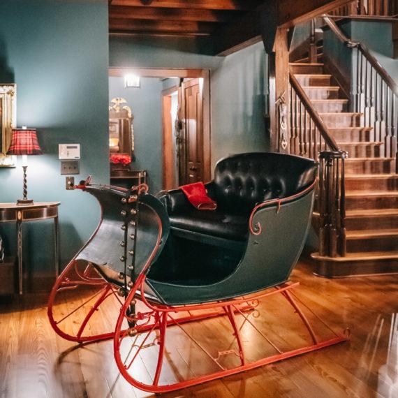 An antique sleigh