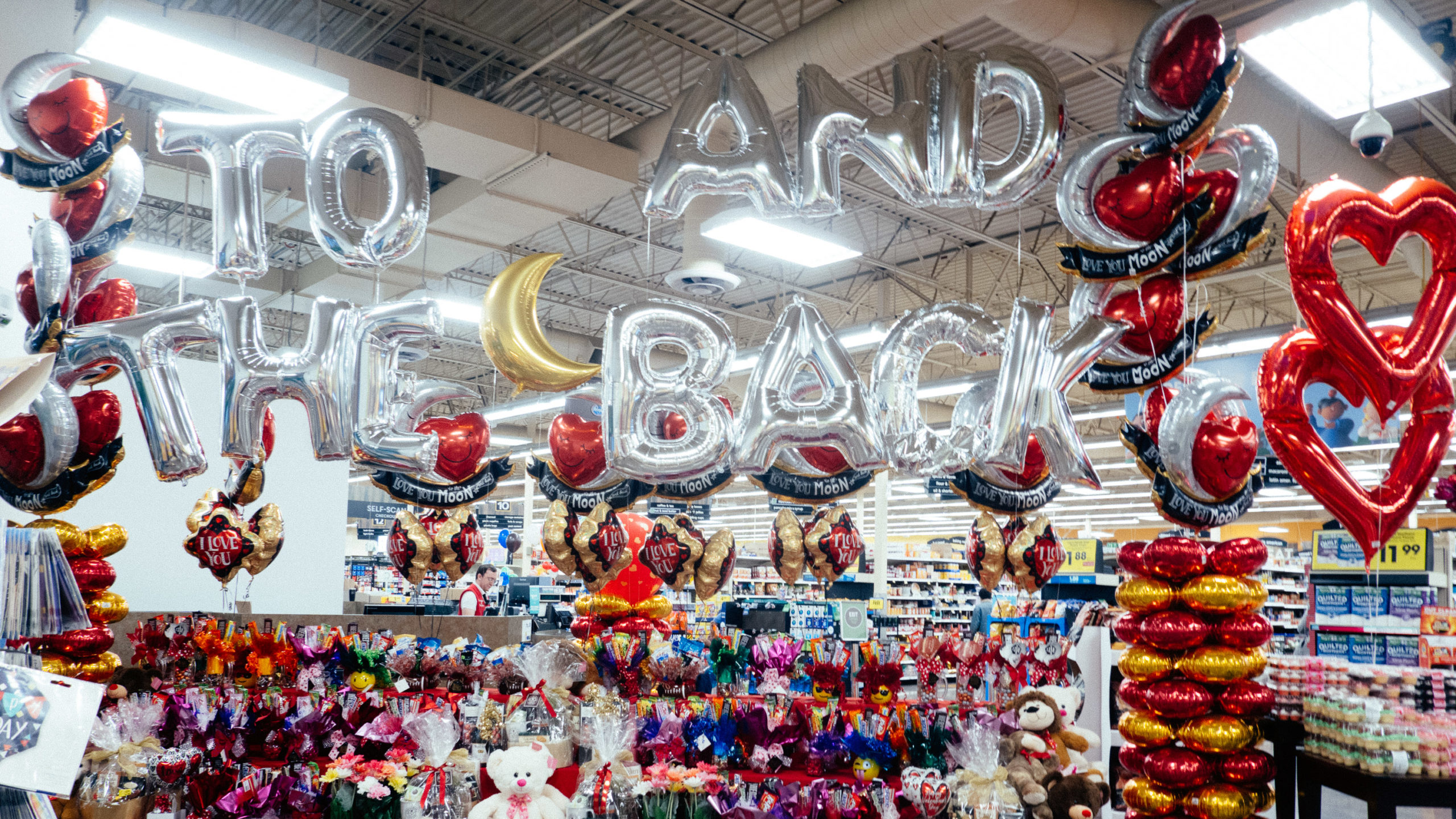 to the moon and back mylar balloons