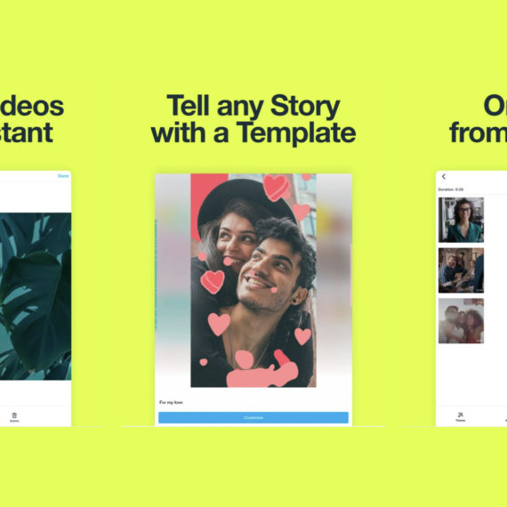 App Store preview of video creation app