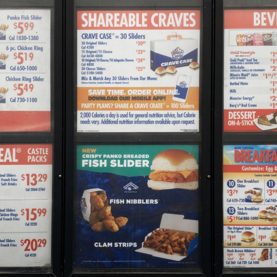 White Castle drive thru menu
