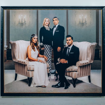 Schitts Creek Family Portrait