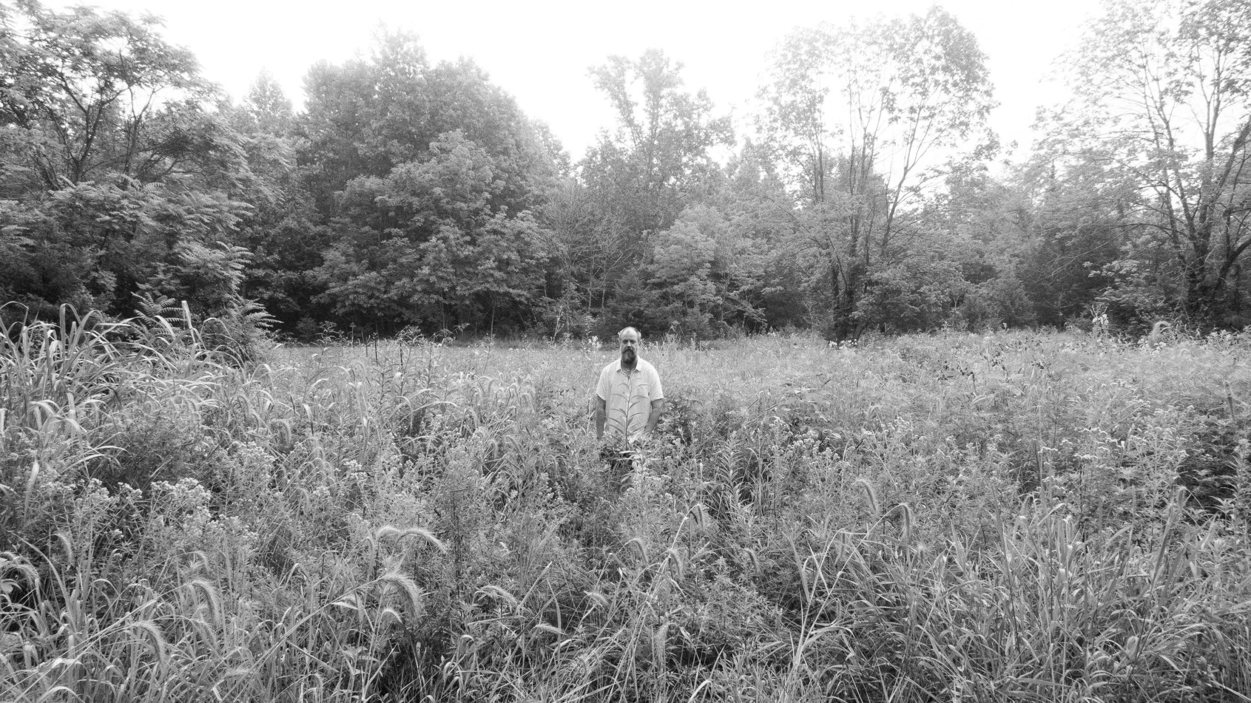 Man in weeds
