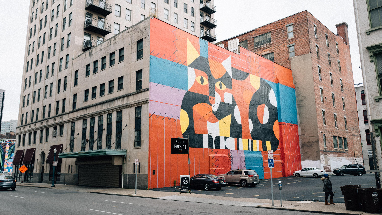 Crazy Cat, Crazy Quilt Edie Harper Mural