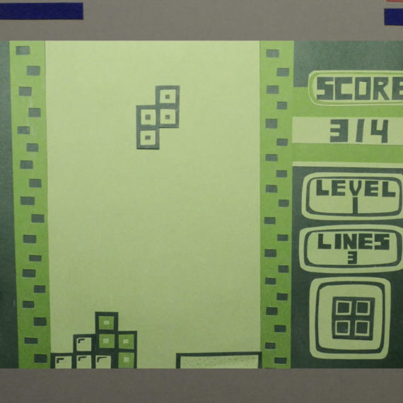 a paper version of Tetris