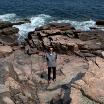 Paula Glass at Acadia National Park