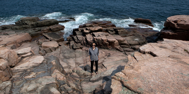 Paula Glass at Acadia National Park