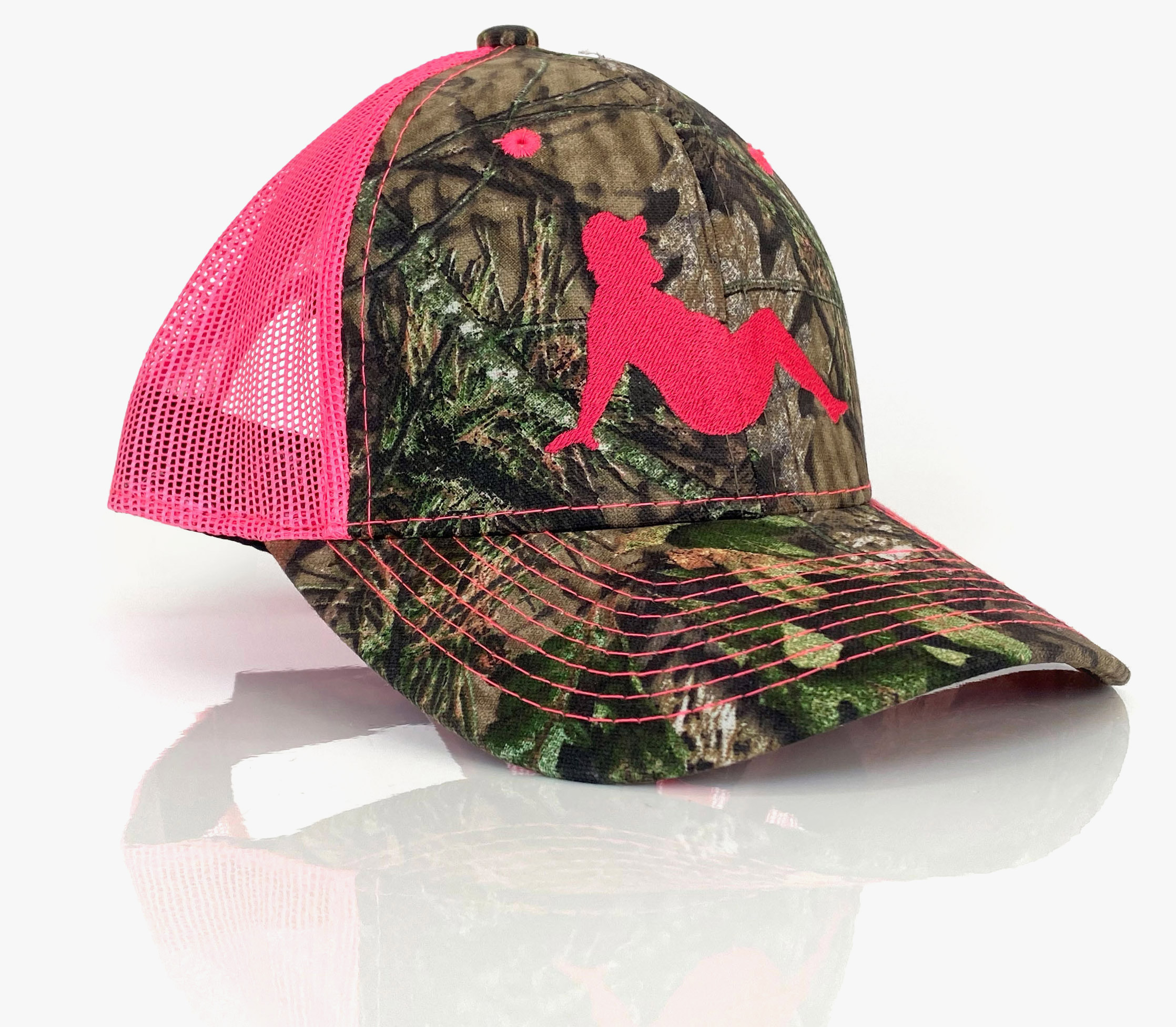 Bubba hat in pink with camo