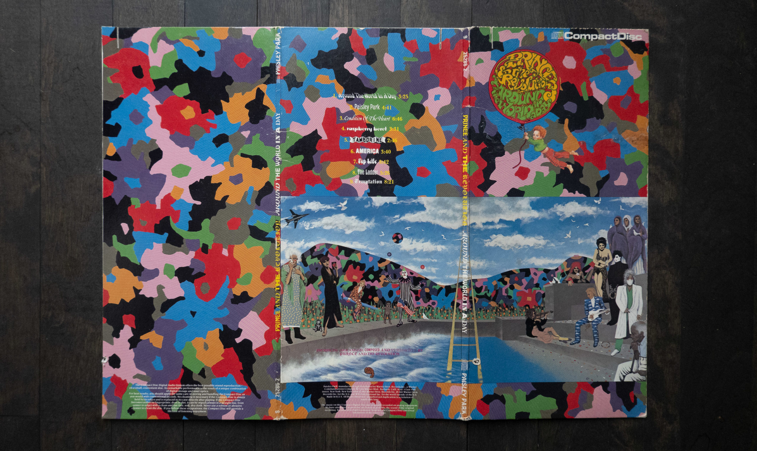 Around the World in a Day CD longbox