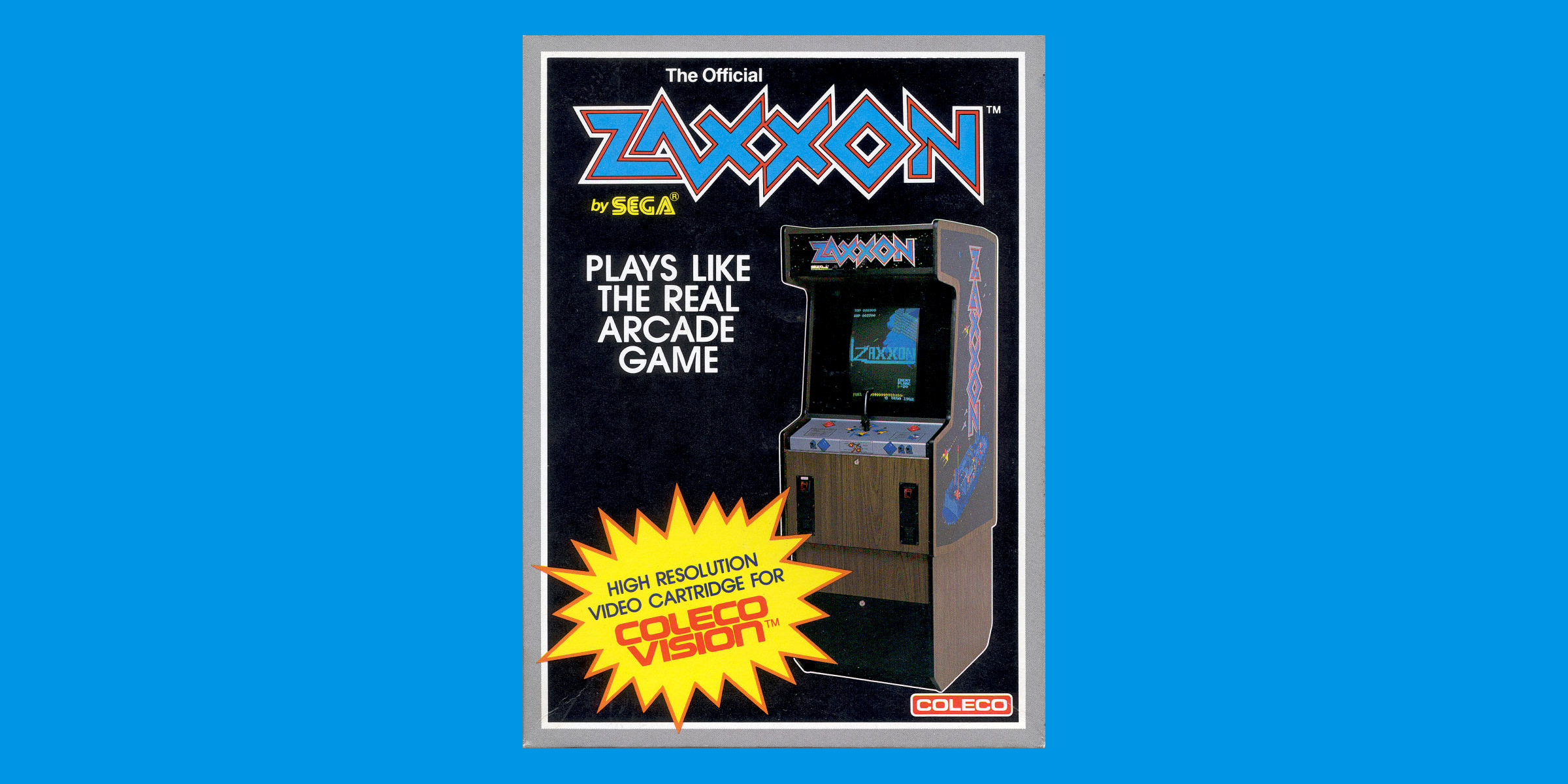 Zaxxon box art for Colecovision