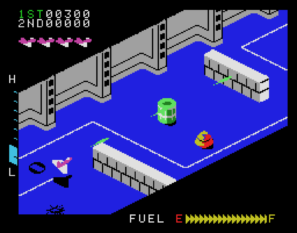 Zaxxon ColecoVision screenshot