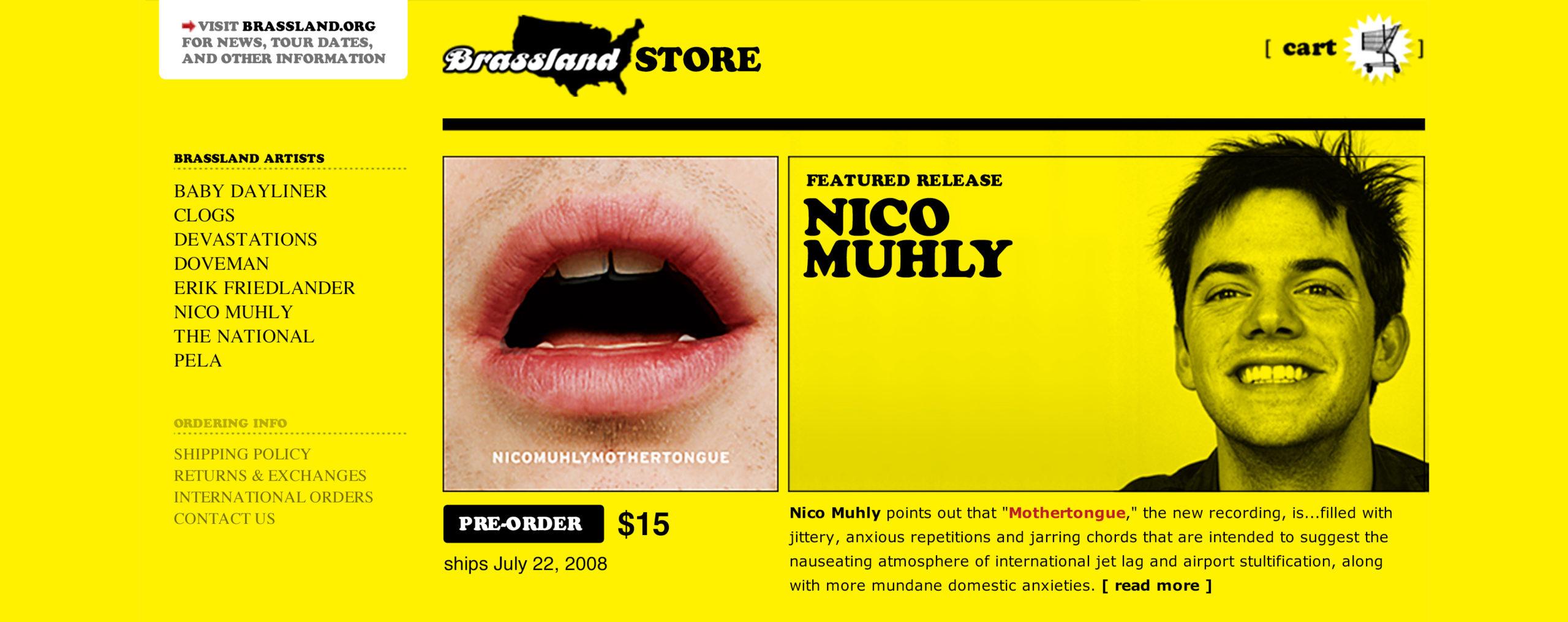 Brassland Store homepage banner