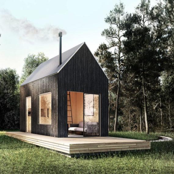 A tiny modern house