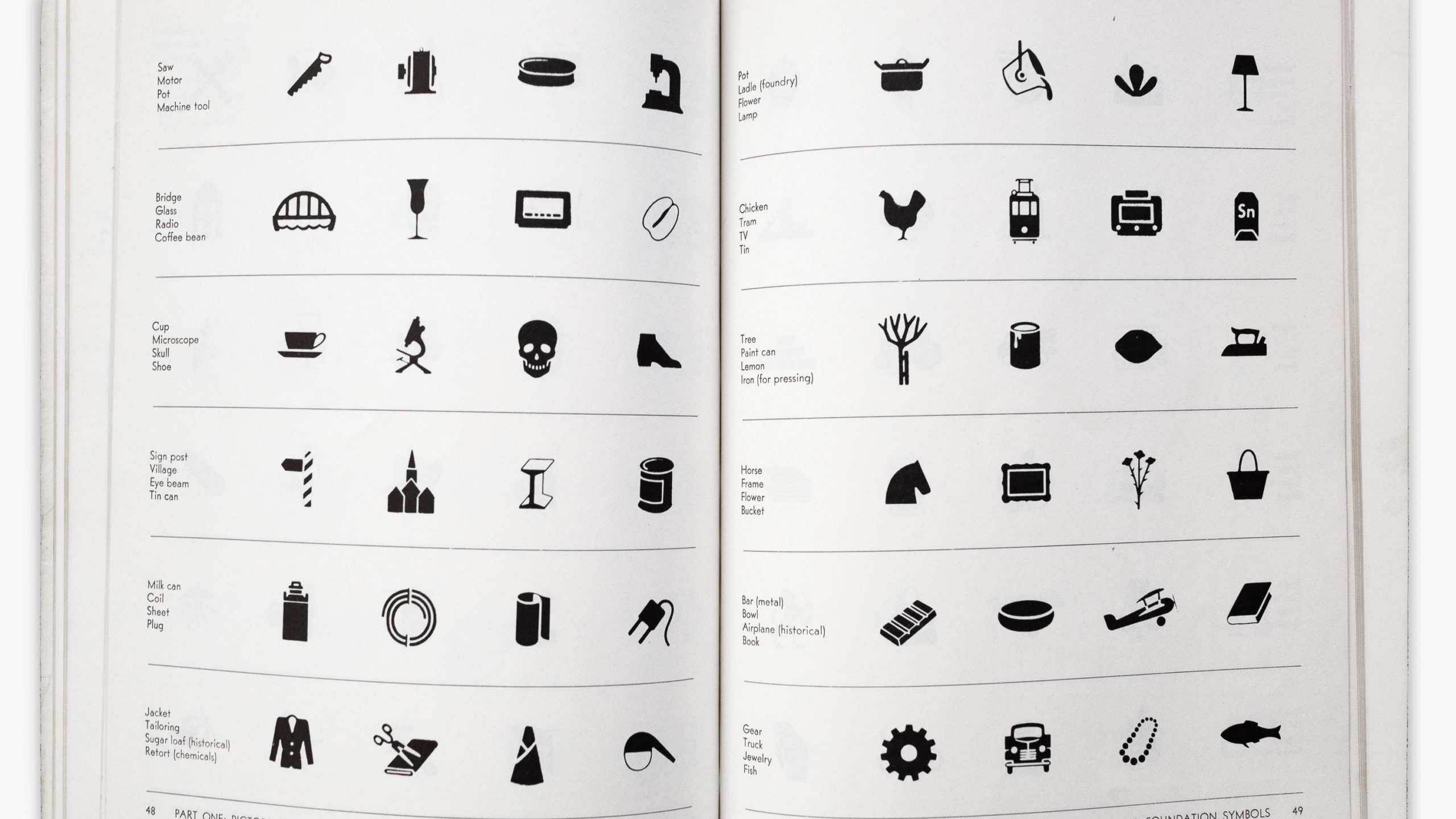 A book of icons
