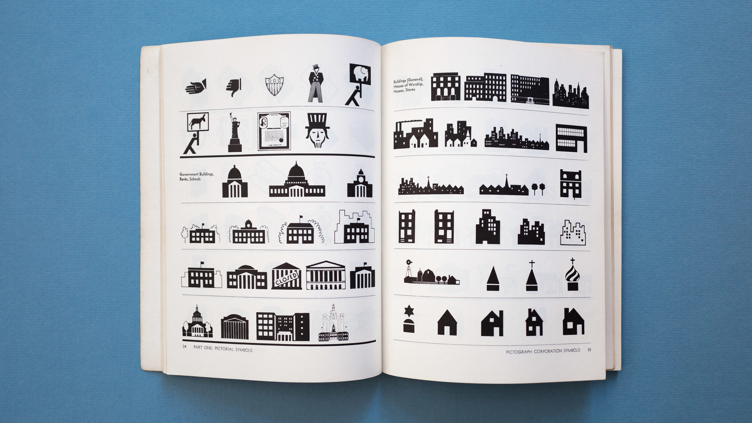 Icons of buildings