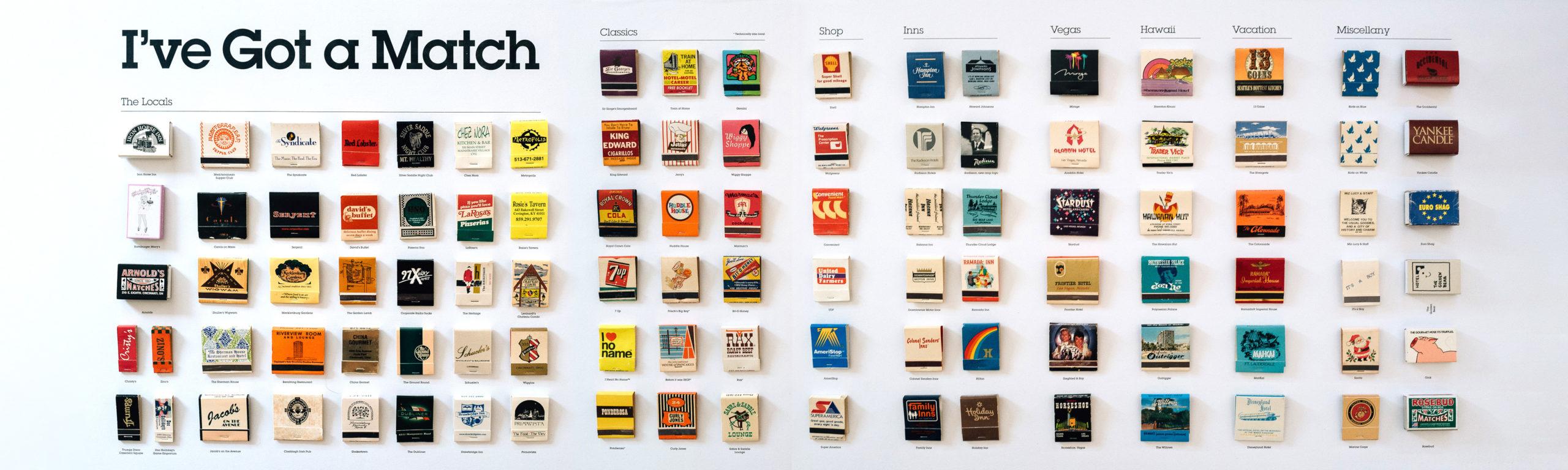 A bunch of matchbooks