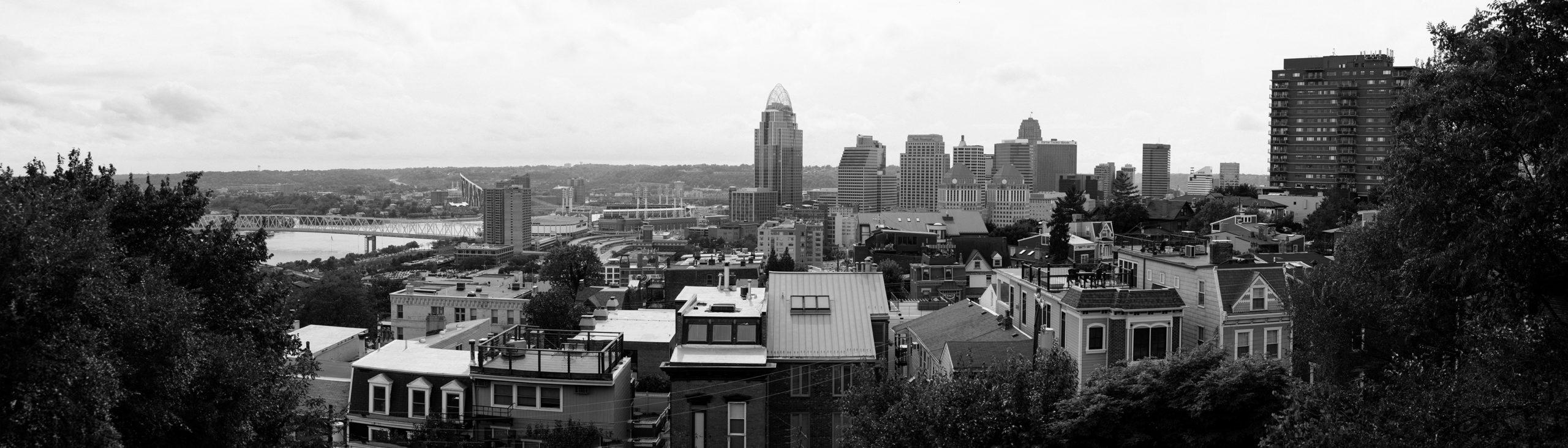 Mt. Adams view of Cincinnati Panorama