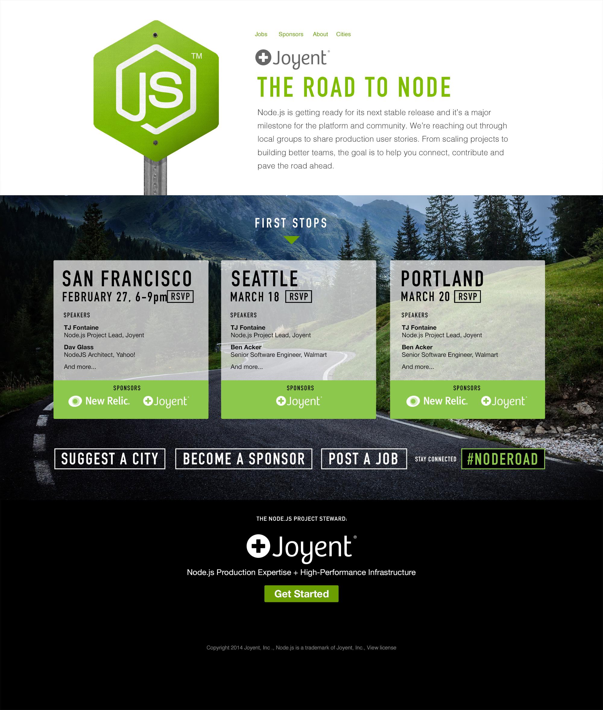 Node on the road website