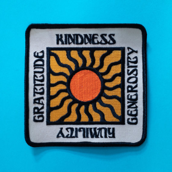 Kindness, Generosity, Humility, Gratitude patch
