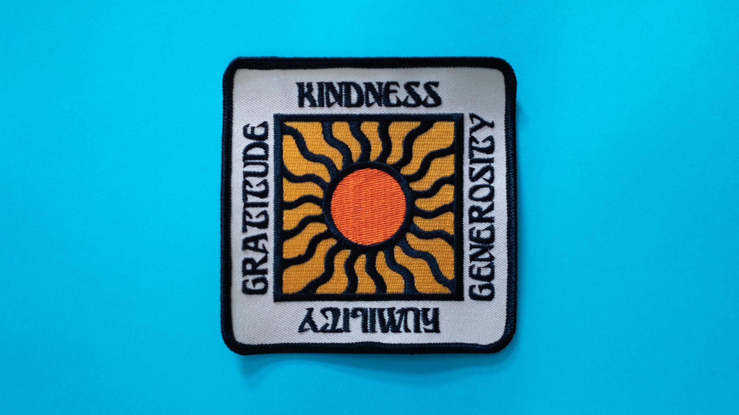 Kindness, Generosity, Humility, Gratitude patch