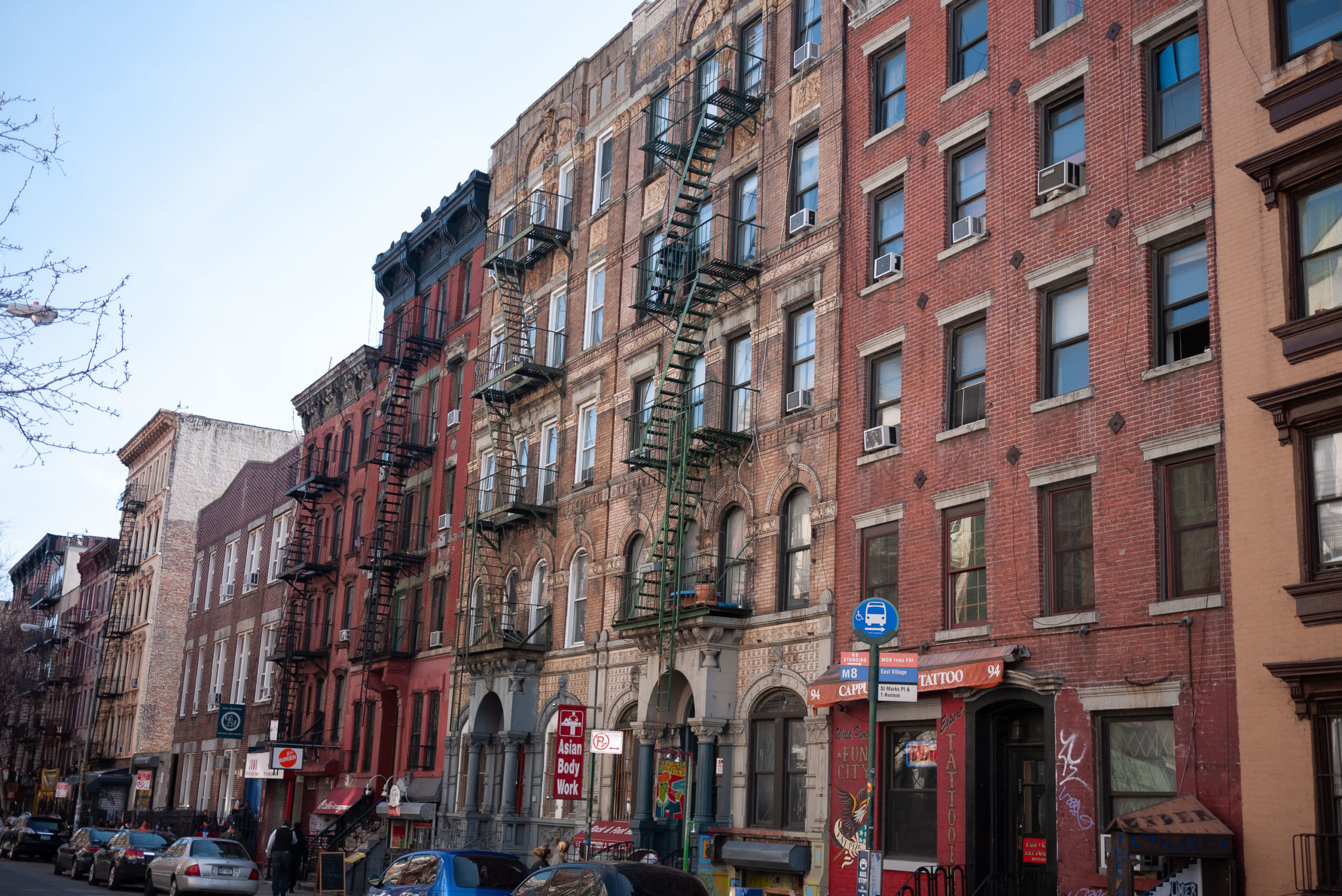 St. Marks Place from an angle
