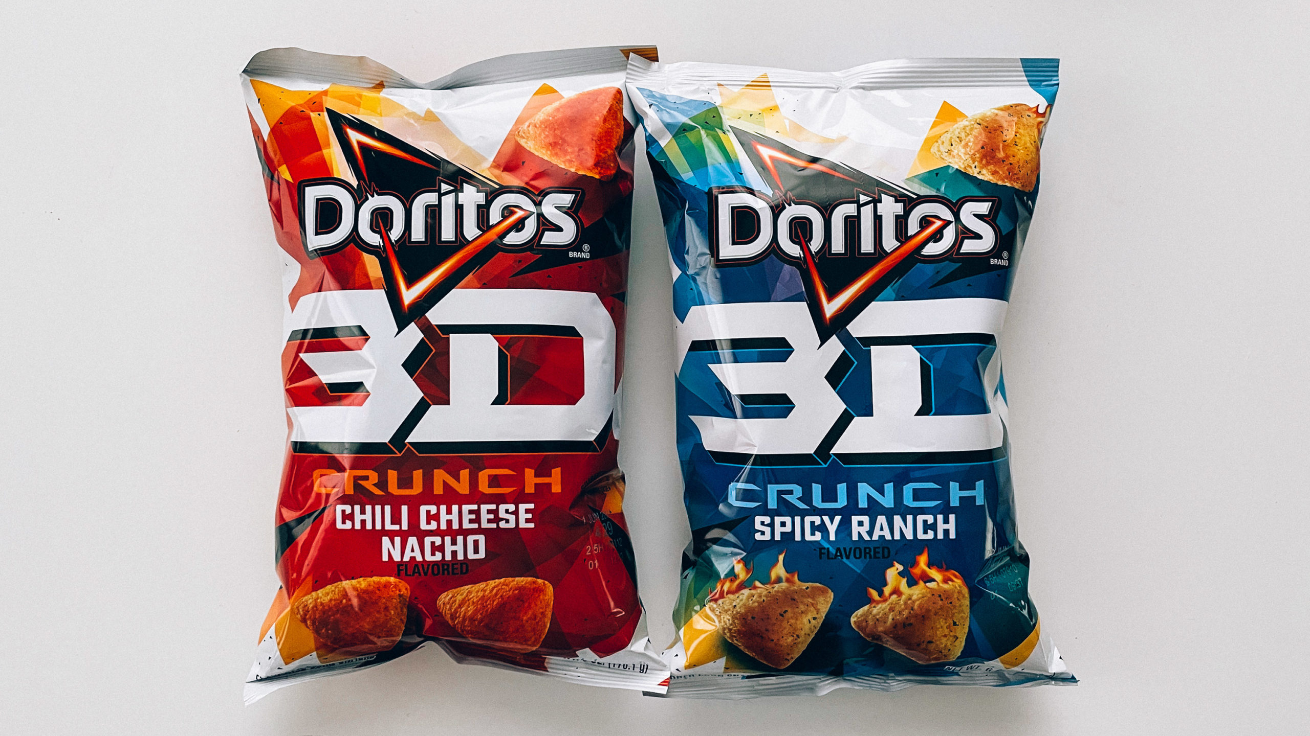 Two bags of Doritos 3D