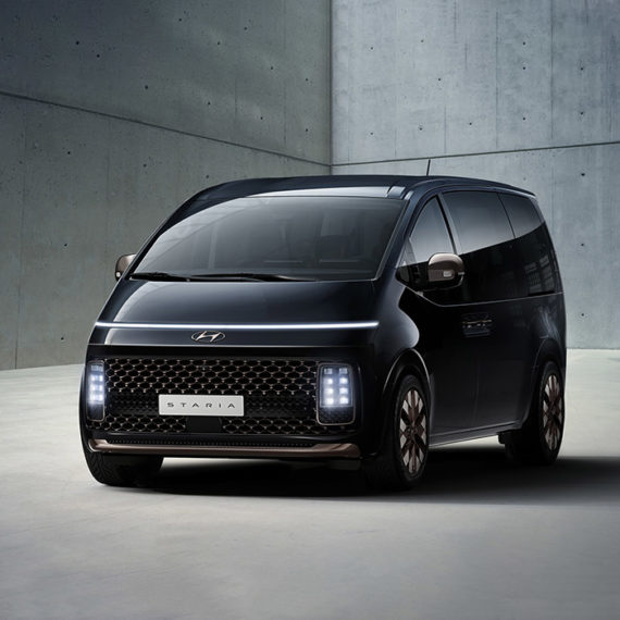 A futuristic minivan