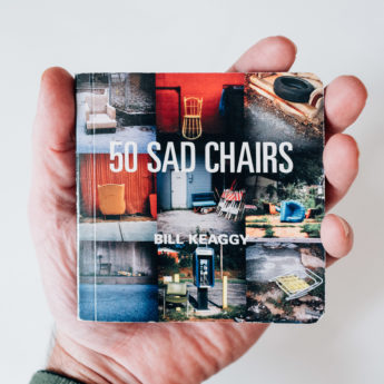 A tiny book called 50 Sad Chairs