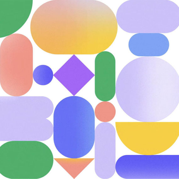Geometric shapes in pretty colors