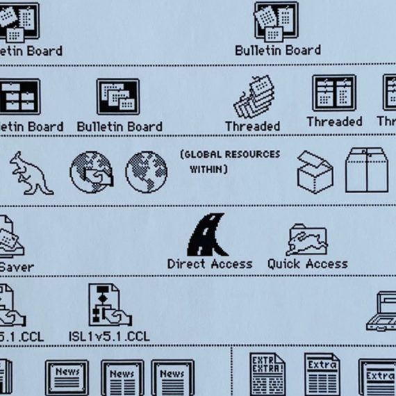 Initial sketches for Macintosh icons by Susan Kare