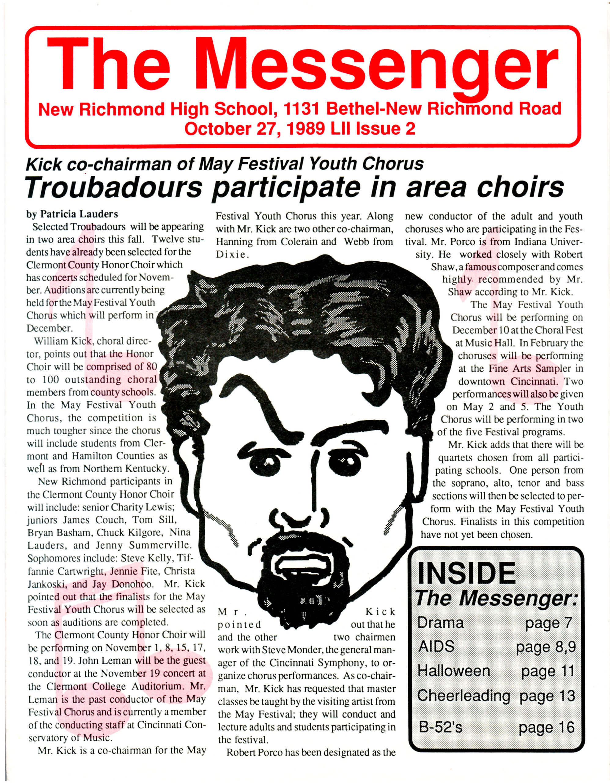 The Messenger newspaper cover page