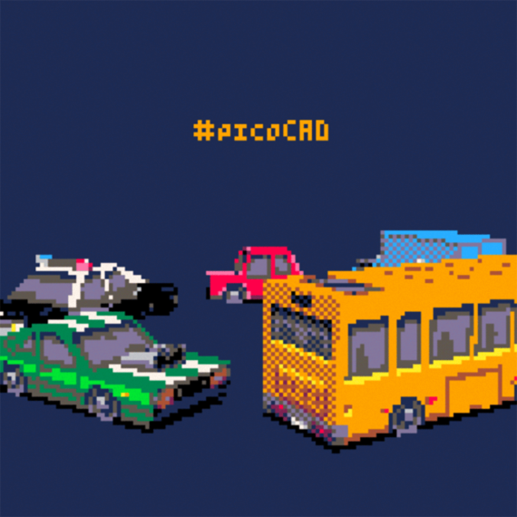 pixelated vehicles