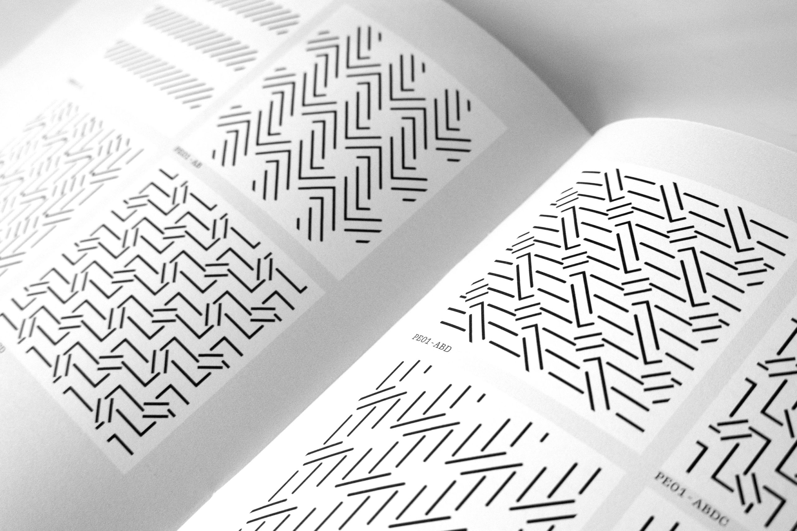 Generated patterns printed in an art zine