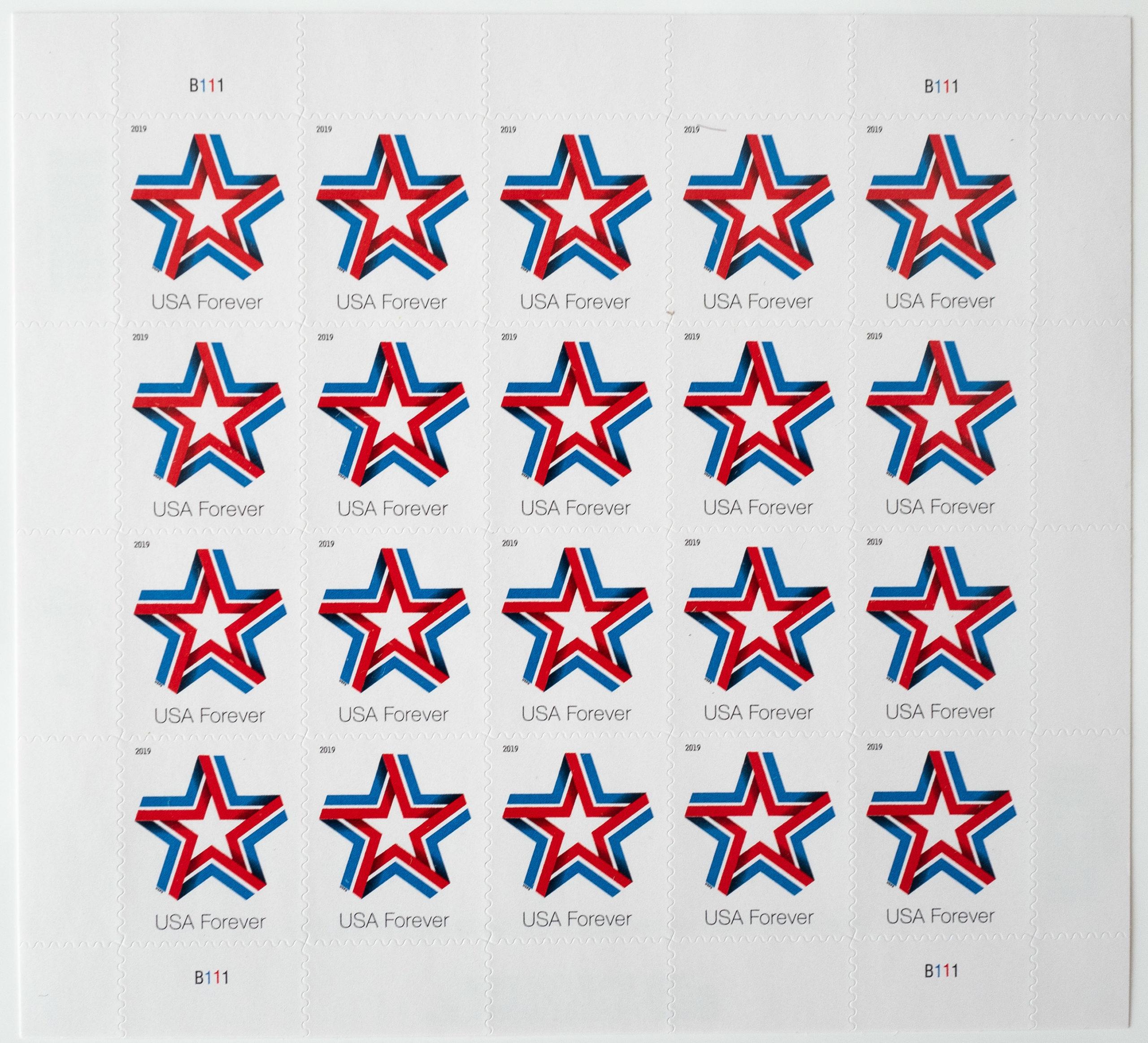 Draplin star stamps
