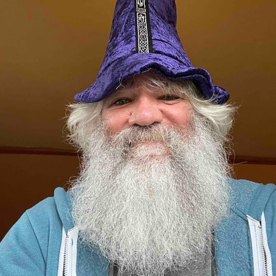 An old wizard in a hat