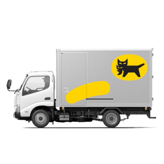 Yamato Group new symbol mark on a truck