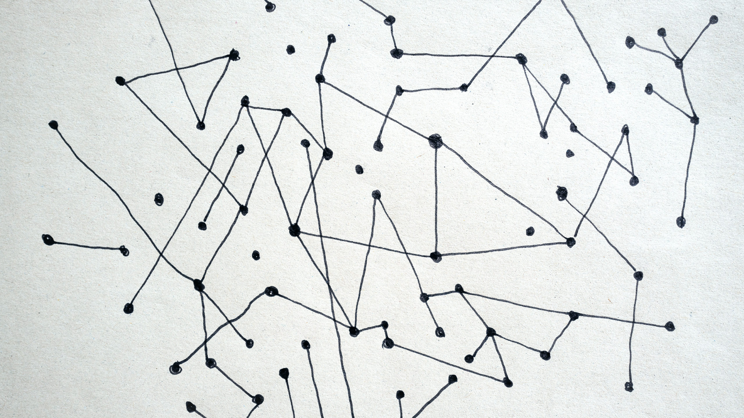 Doodles of lines and dots connecting